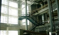 3-story atrium stair by Grunau Metals